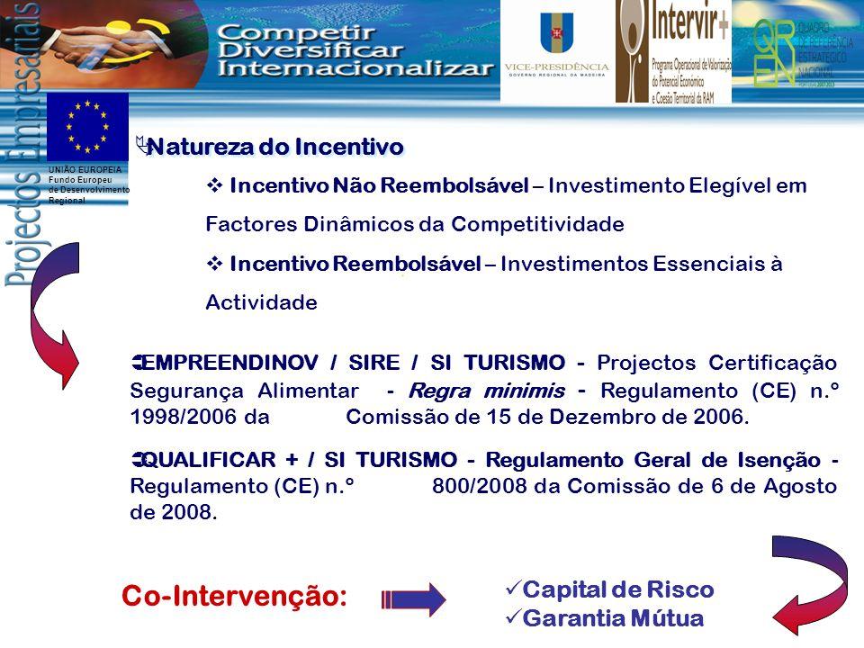 Co-Intervenção: Natureza do Incentivo Capital de Risco Garantia Mútua
