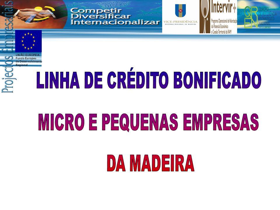 LINHA DE CRÉDITO BONIFICADO MICRO E PEQUENAS EMPRESAS DA MADEIRA