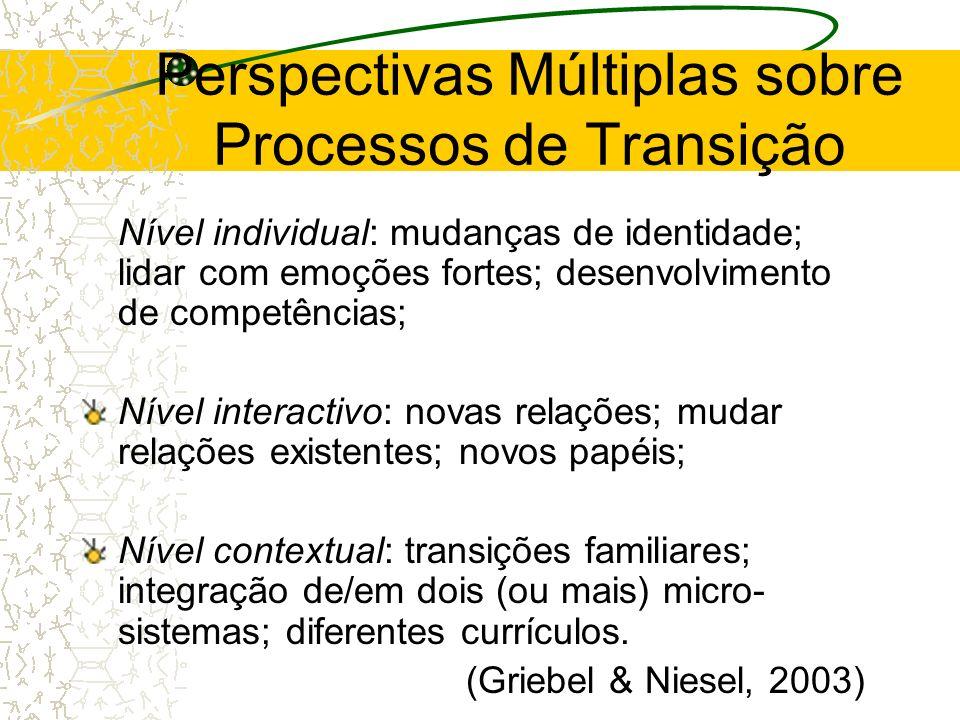 Perspectivas Múltiplas sobre Processos de Transição