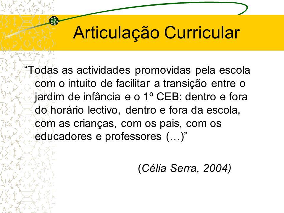 Articulação Curricular