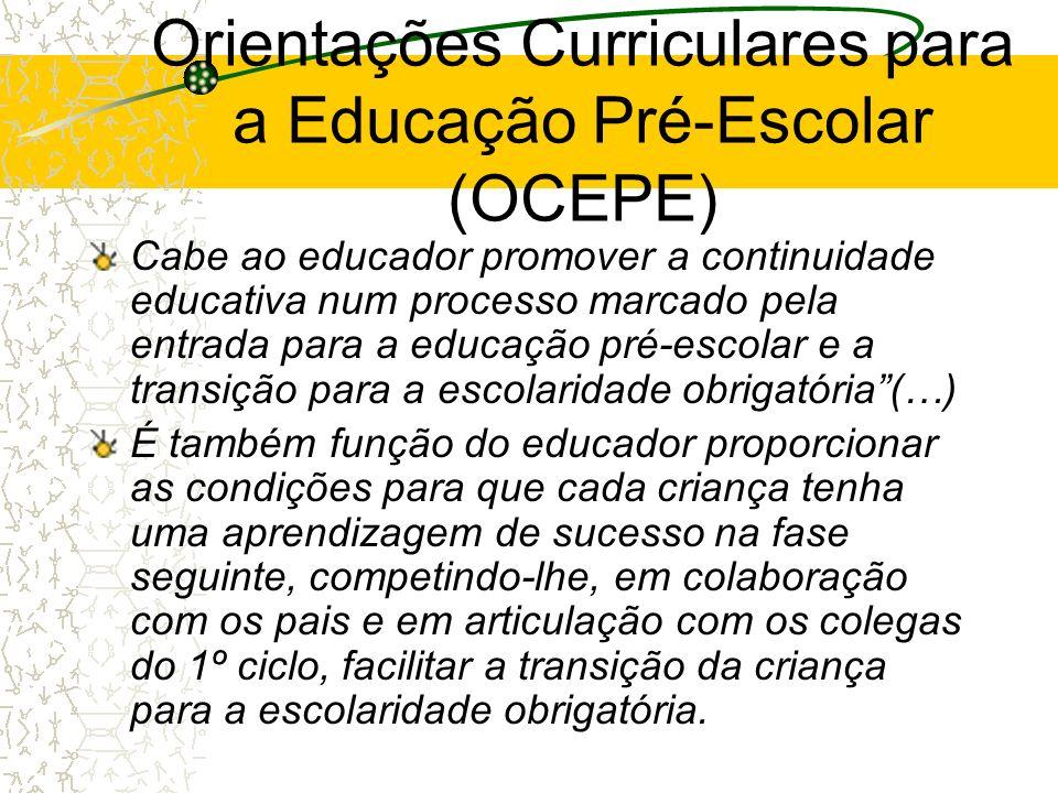 Orientações Curriculares para a Educação Pré-Escolar (OCEPE)