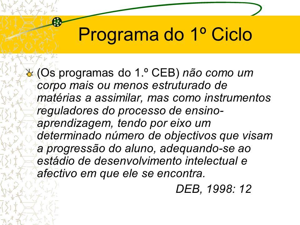Programa do 1º Ciclo
