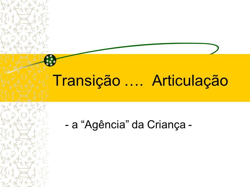 Transição …. Articulação