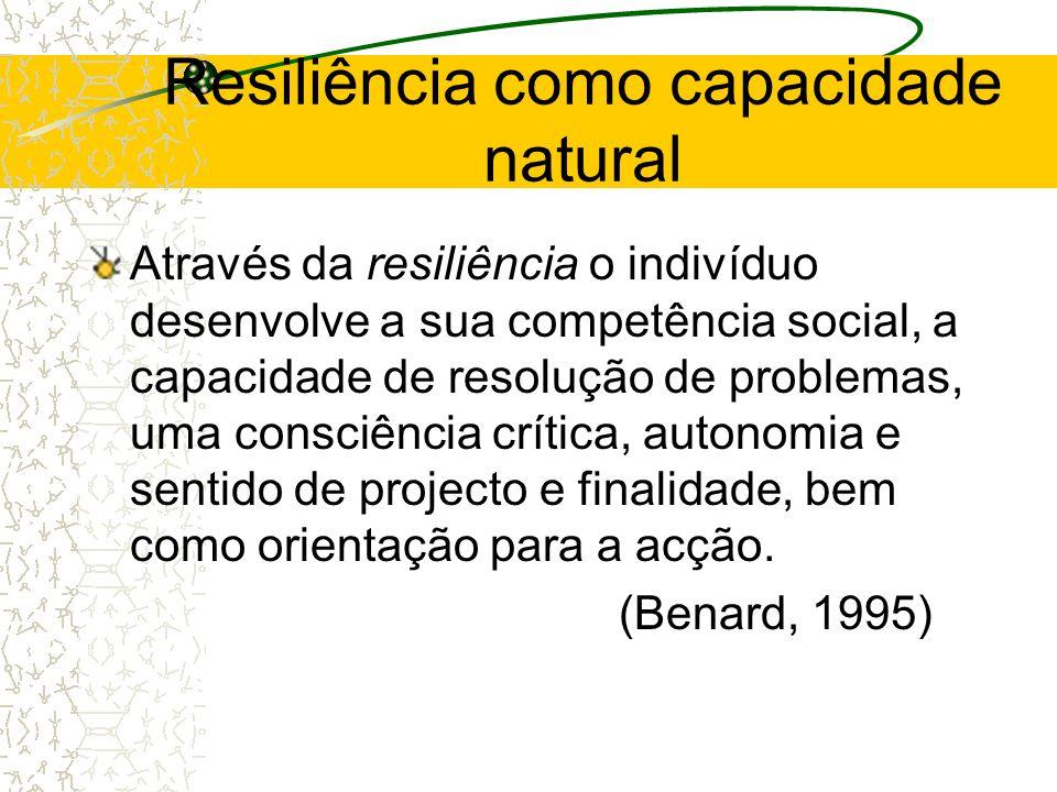 Resiliência como capacidade natural