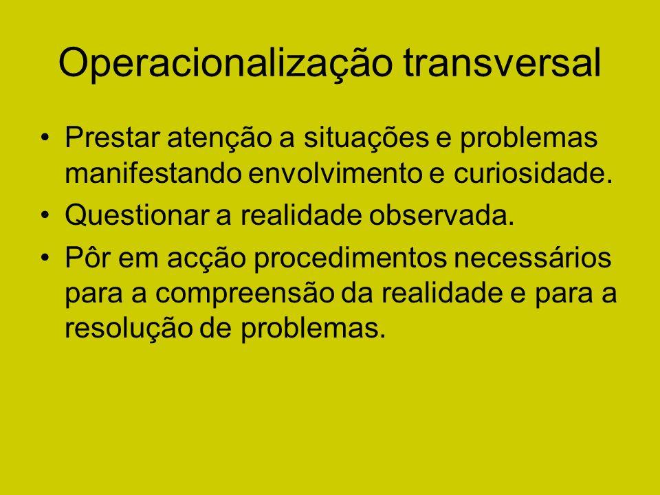 Operacionalização transversal