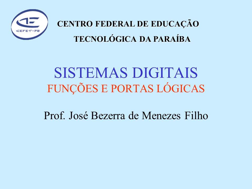 SISTEMAS DIGITAIS FUNÇÕES E PORTAS LÓGICAS