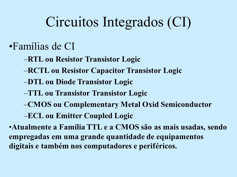Circuitos Integrados (CI)