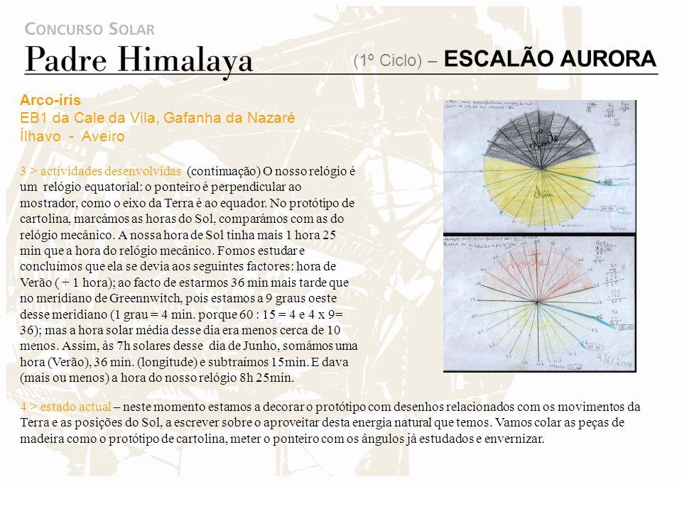 (1º Ciclo) – ESCALÃO AURORA