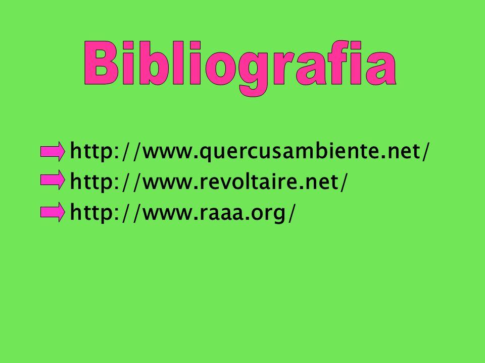 Bibliografia http://www.quercusambiente.net/