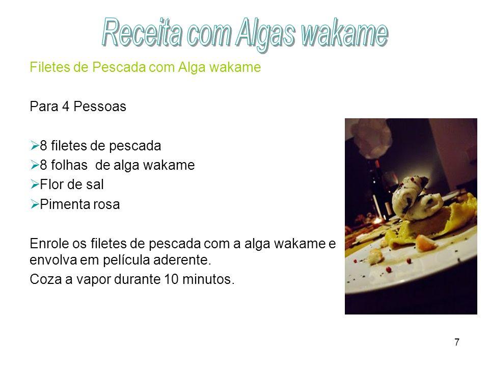 Receita com Algas wakame