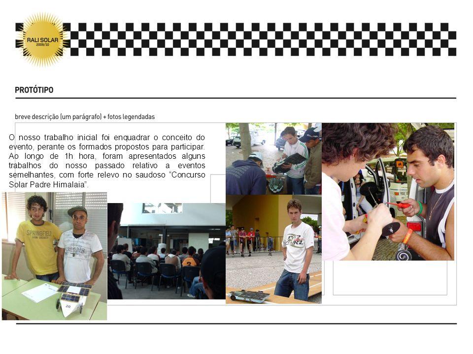 O nosso trabalho inicial foi enquadrar o conceito do evento, perante os formados propostos para participar.