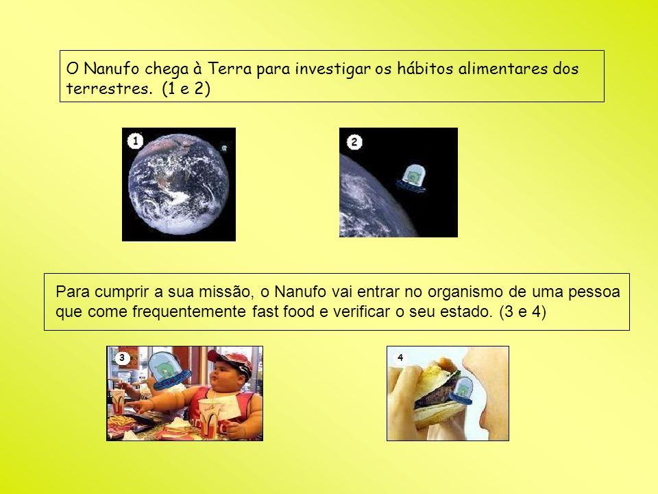 O Nanufo chega à Terra para investigar os hábitos alimentares dos terrestres. (1 e 2)