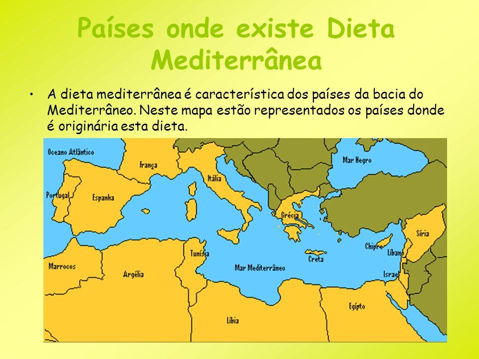 Países onde existe Dieta Mediterrânea
