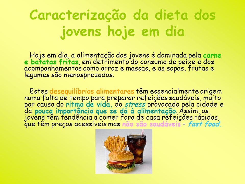 Caracterização da dieta dos jovens hoje em dia