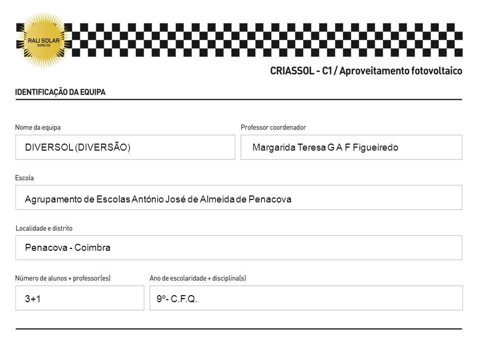 DIVERSOL (DIVERSÃO) Margarida Teresa G A F Figueiredo. Agrupamento de Escolas António José de Almeida de Penacova.