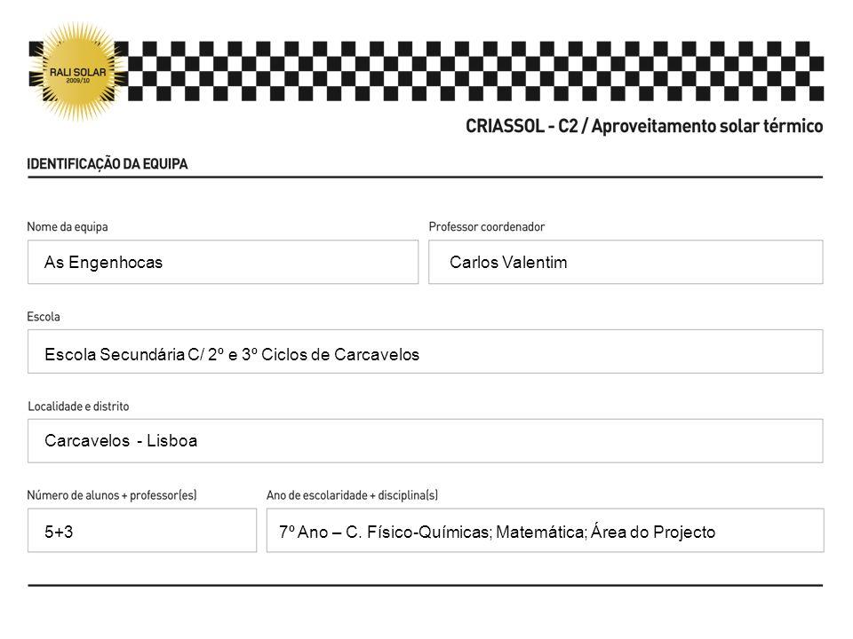 As Engenhocas Carlos Valentim. Escola Secundária C/ 2º e 3º Ciclos de Carcavelos. Carcavelos - Lisboa.