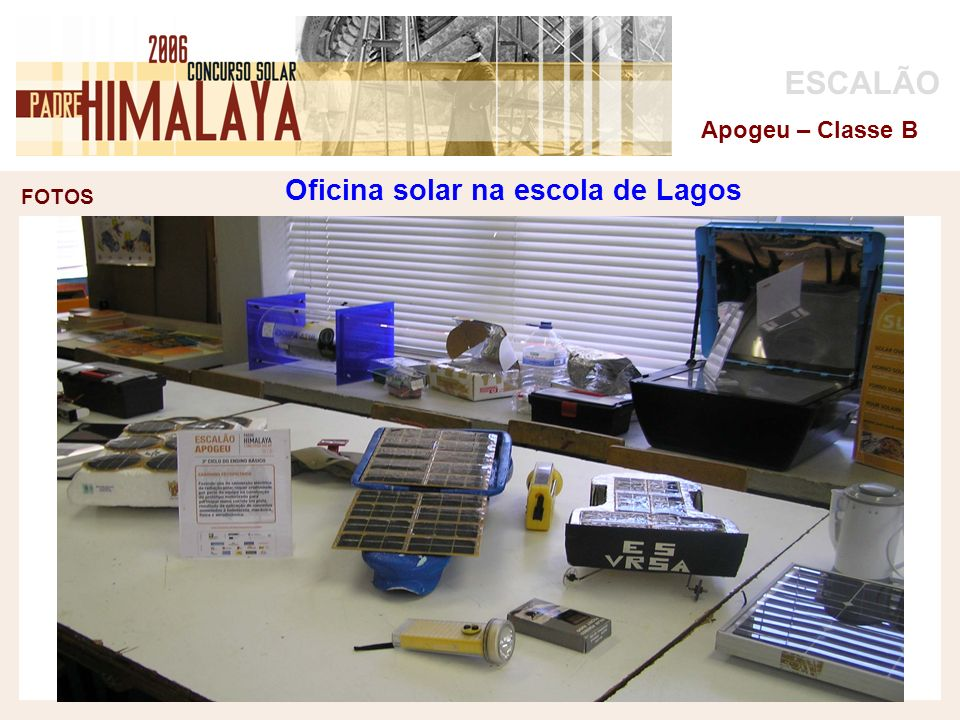 Oficina solar na escola de Lagos