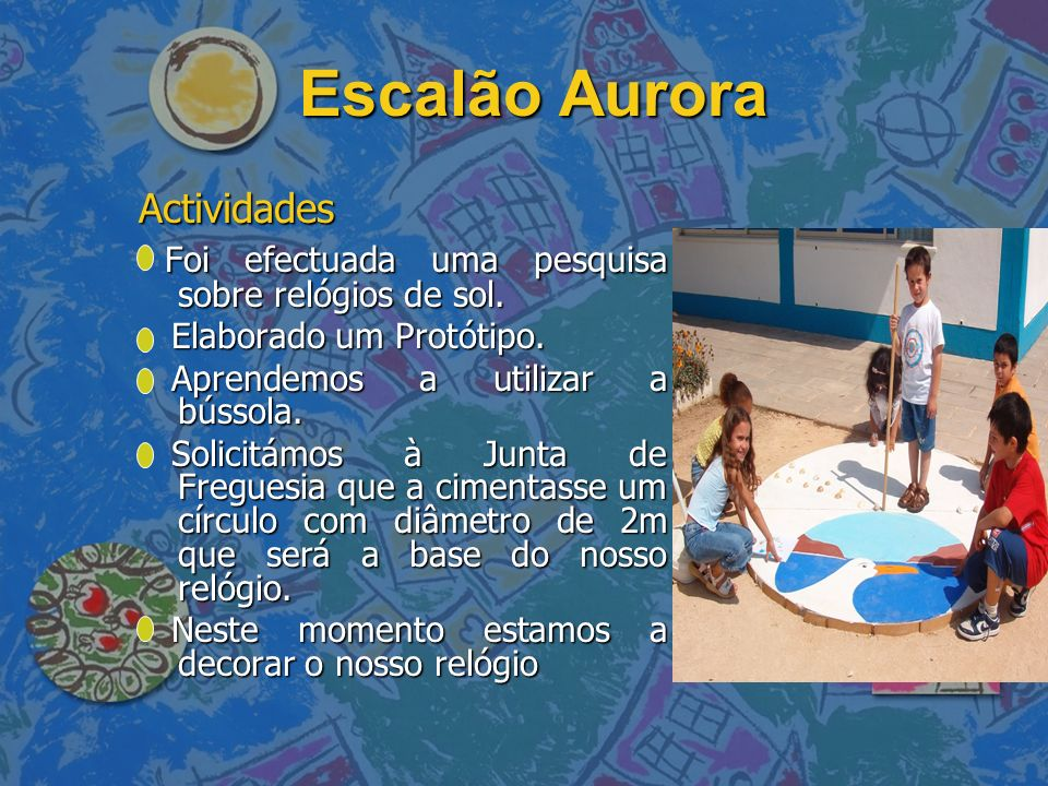 Escalão Aurora Actividades