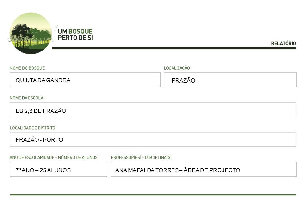 QUINTA DA GANDRA FRAZÃO. EB 2,3 DE FRAZÃO. FRAZÃO - PORTO.