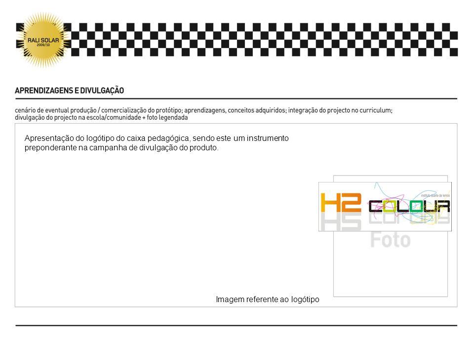 Apresentação do logótipo do caixa pedagógica, sendo este um instrumento preponderante na campanha de divulgação do produto.