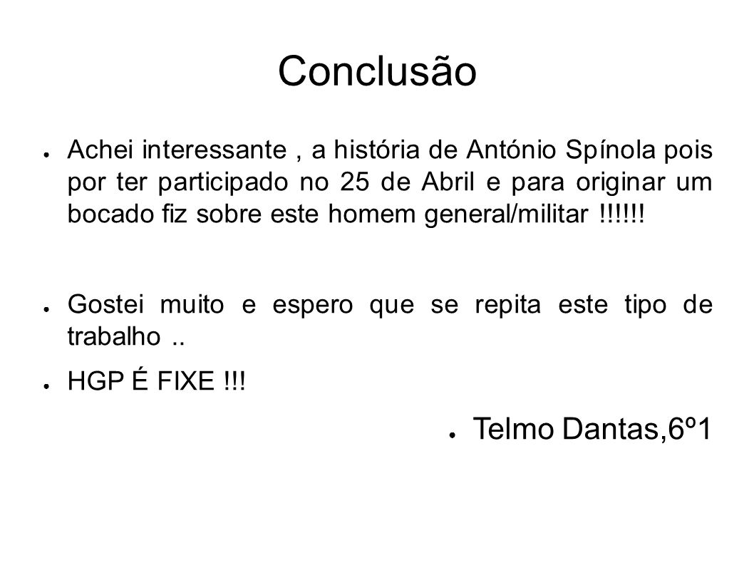Conclusão Telmo Dantas,6º1