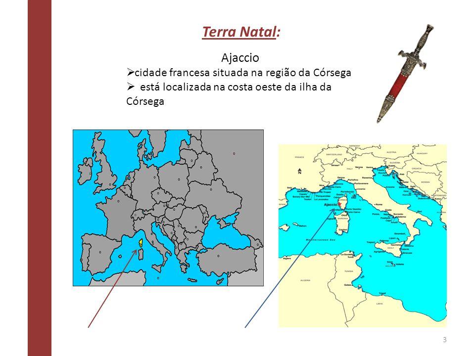 Terra Natal: Ajaccio cidade francesa situada na região da Córsega