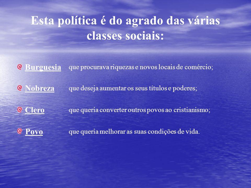 Esta política é do agrado das várias classes sociais: