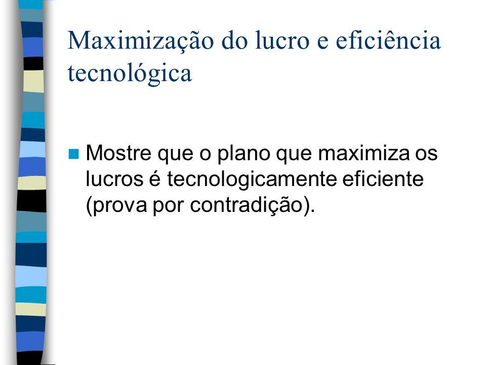 Maximização do lucro e eficiência tecnológica