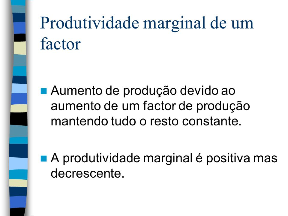 Produtividade marginal de um factor