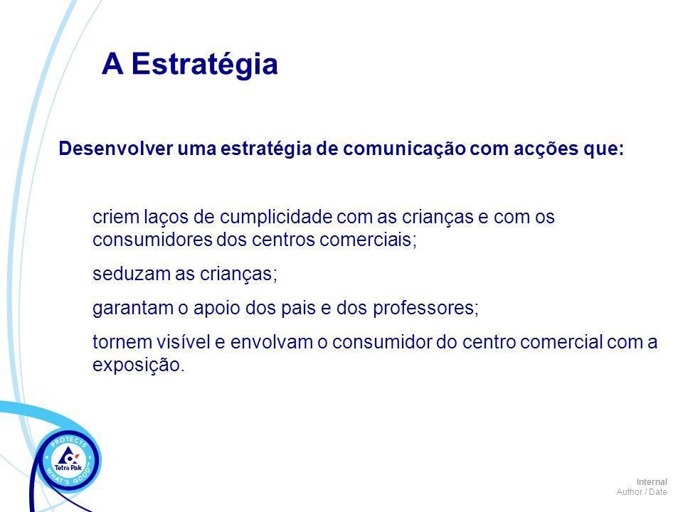 A Estratégia Desenvolver uma estratégia de comunicação com acções que: