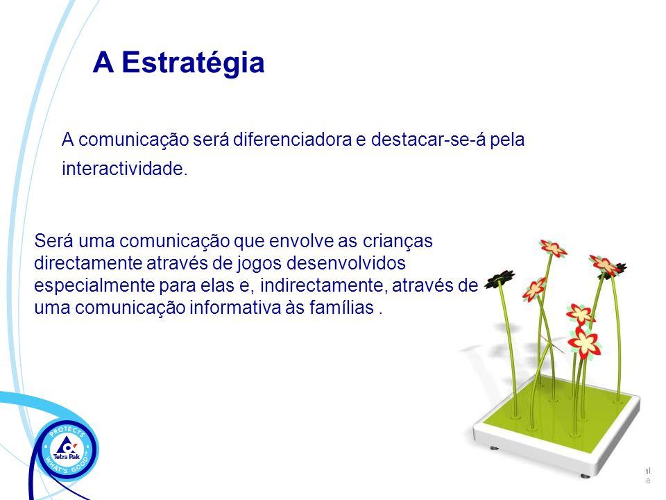 A Estratégia A comunicação será diferenciadora e destacar-se-á pela interactividade.