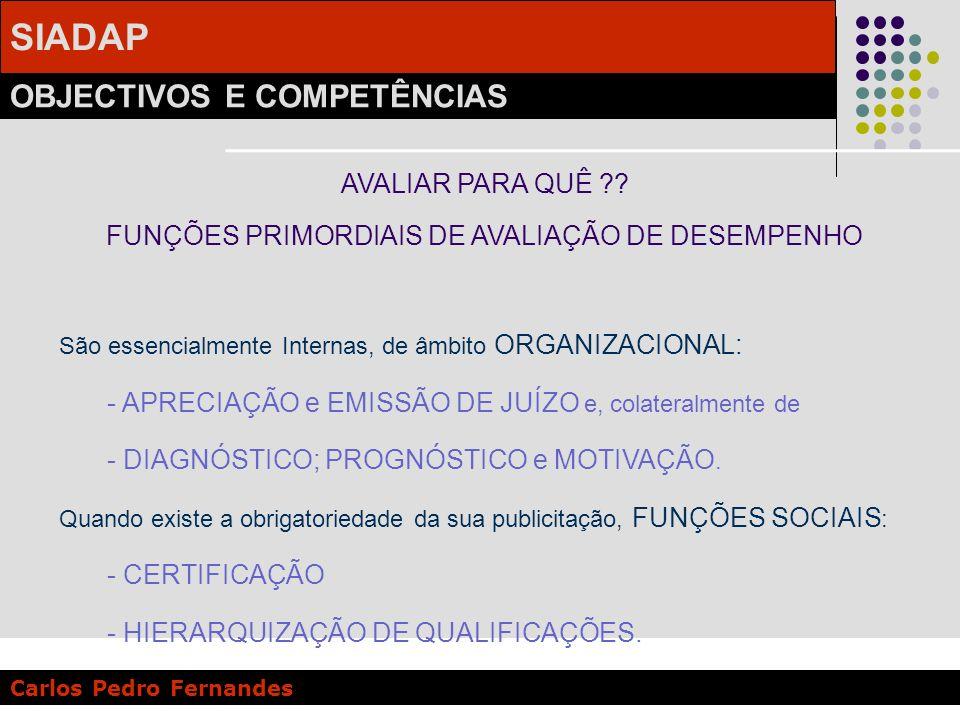 FUNÇÕES PRIMORDIAIS DE AVALIAÇÃO DE DESEMPENHO