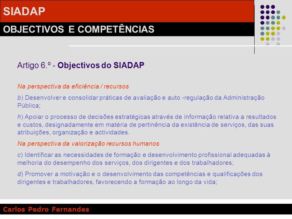 Artigo 6.º - Objectivos do SIADAP