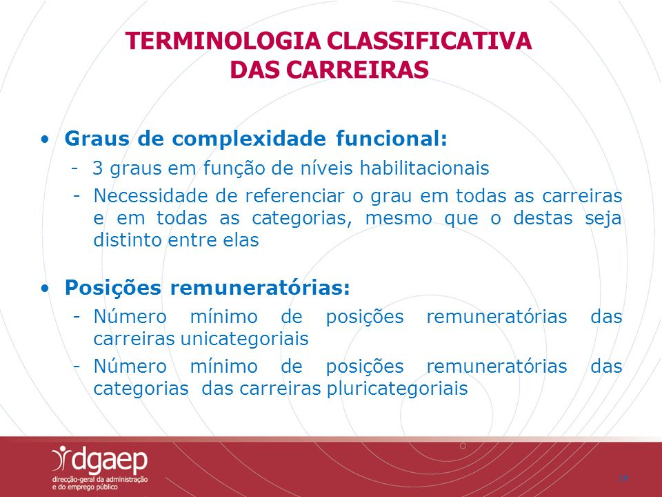 TERMINOLOGIA CLASSIFICATIVA