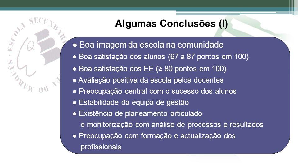 Algumas Conclusões (I)
