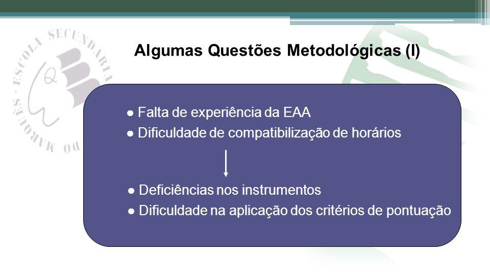 Algumas Questões Metodológicas (I)