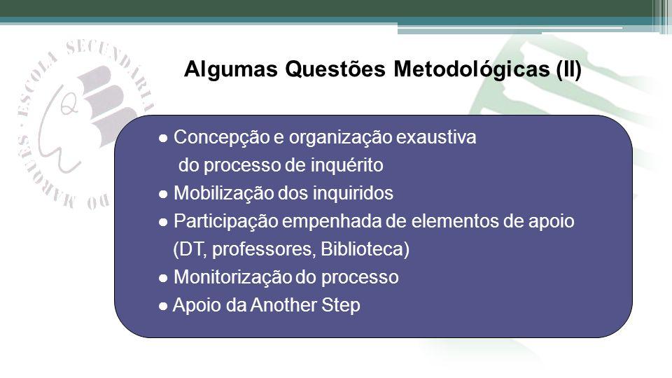 Algumas Questões Metodológicas (II)