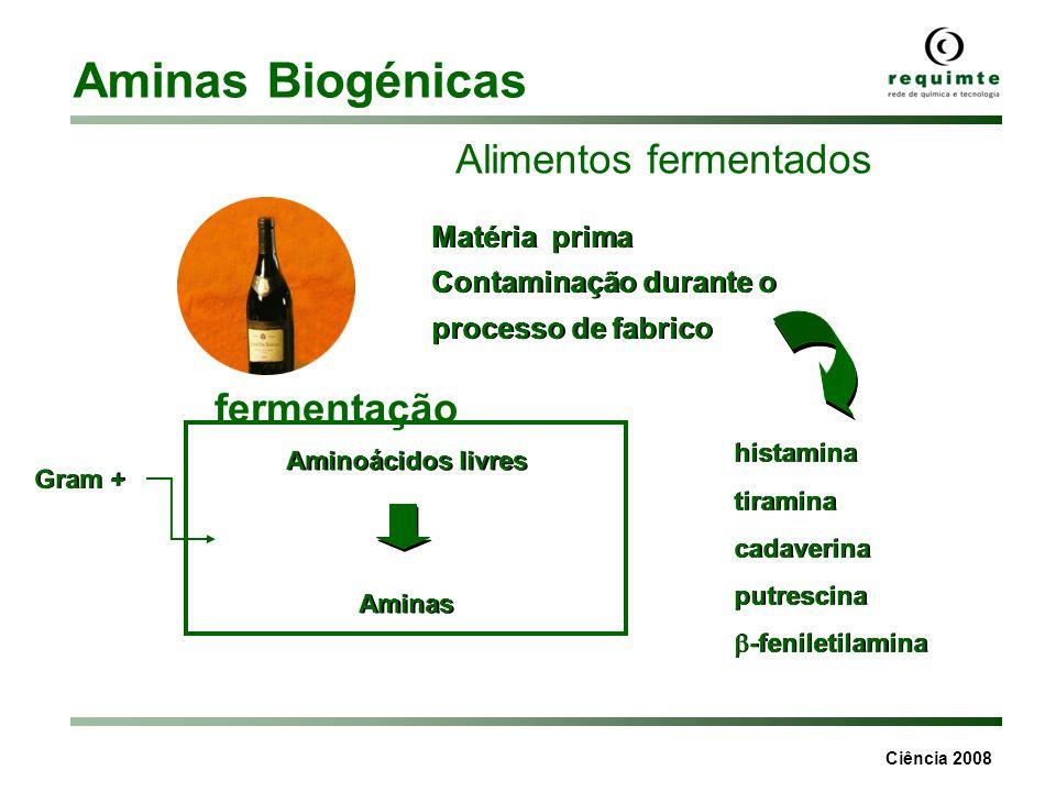 Aminas Biogénicas Alimentos fermentados fermentação Matéria prima