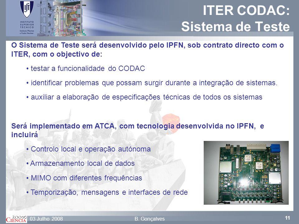 ITER CODAC: Sistema de Teste