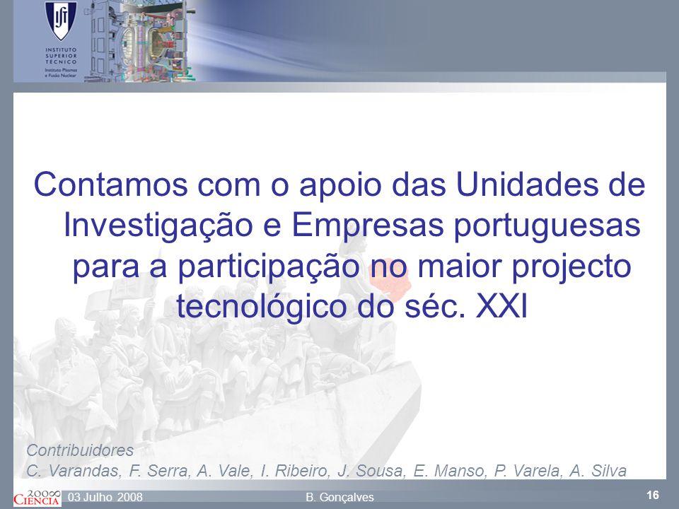 Contamos com o apoio das Unidades de Investigação e Empresas portuguesas para a participação no maior projecto tecnológico do séc. XXI