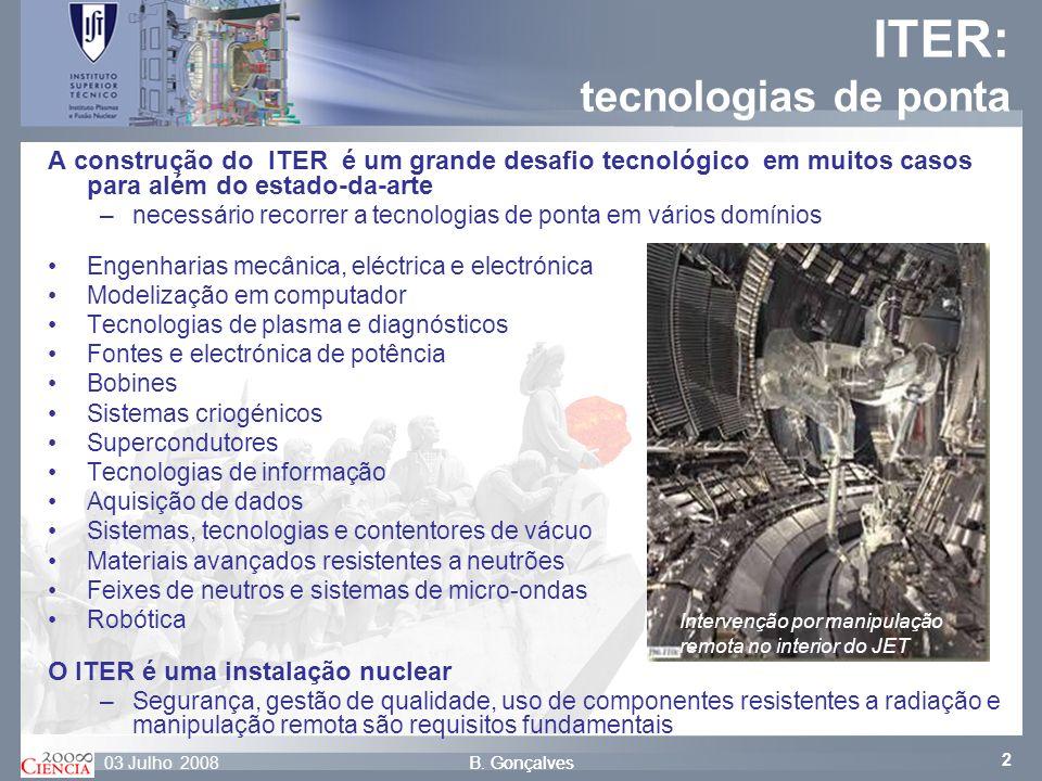 ITER: tecnologias de ponta