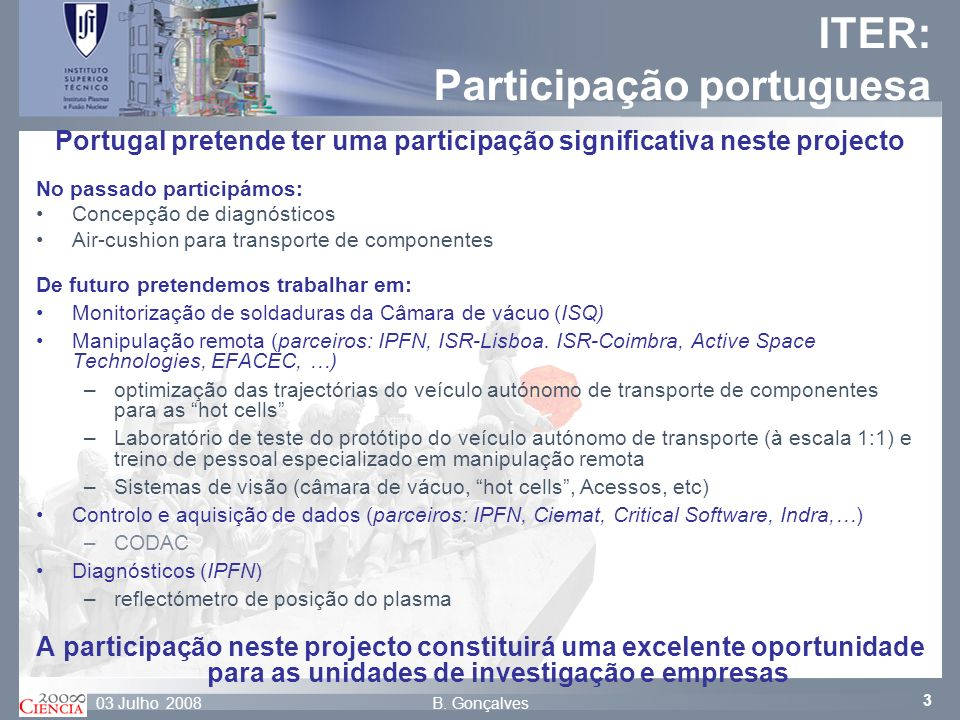 ITER: Participação portuguesa