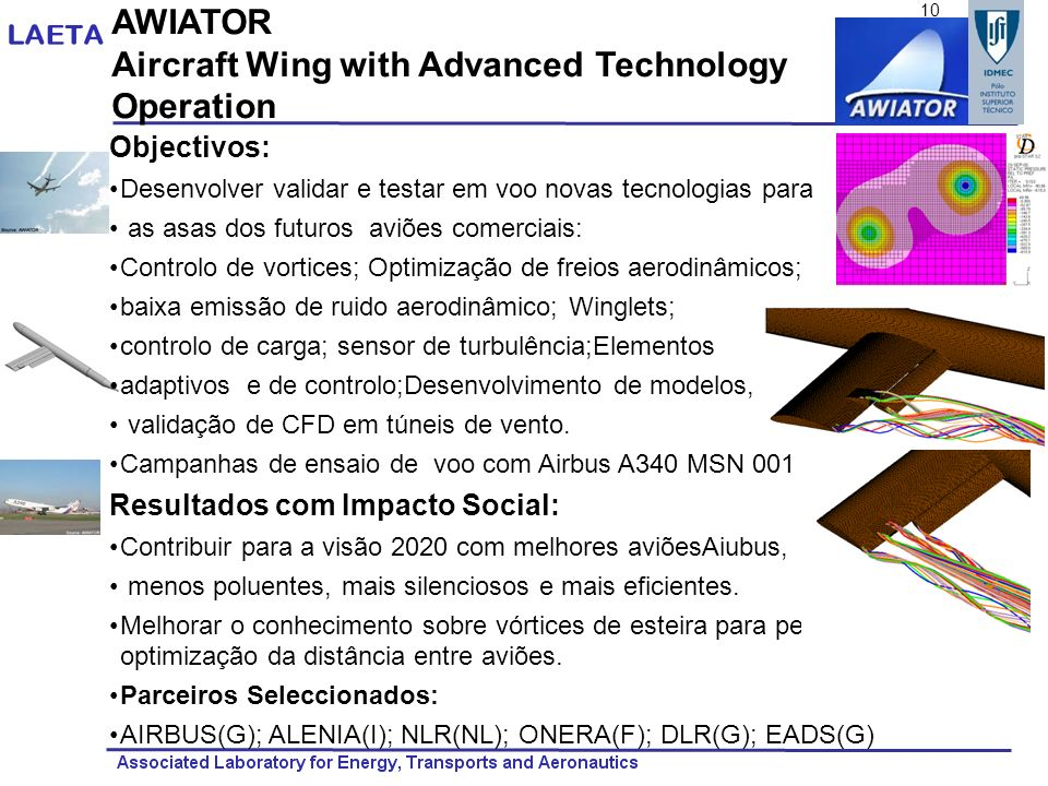 Aircraft Wing with Advanced Technology Operation