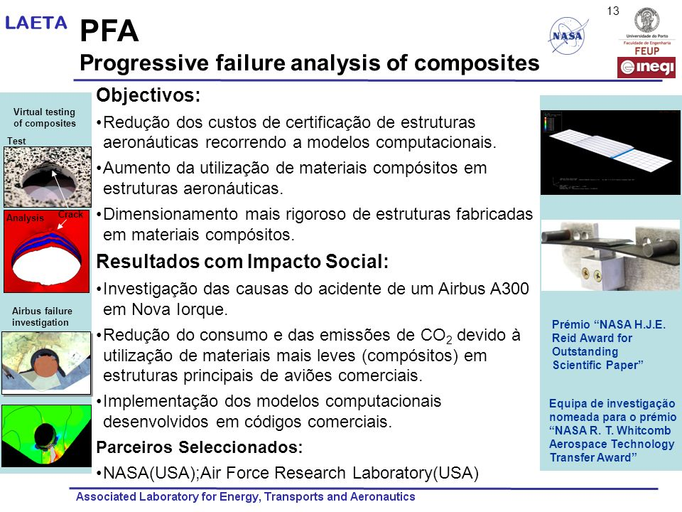 PFA Progressive failure analysis of composites Objectivos: