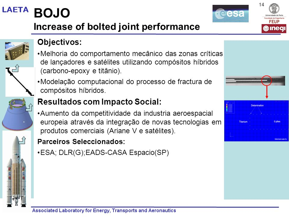 BOJO Increase of bolted joint performance Objectivos:
