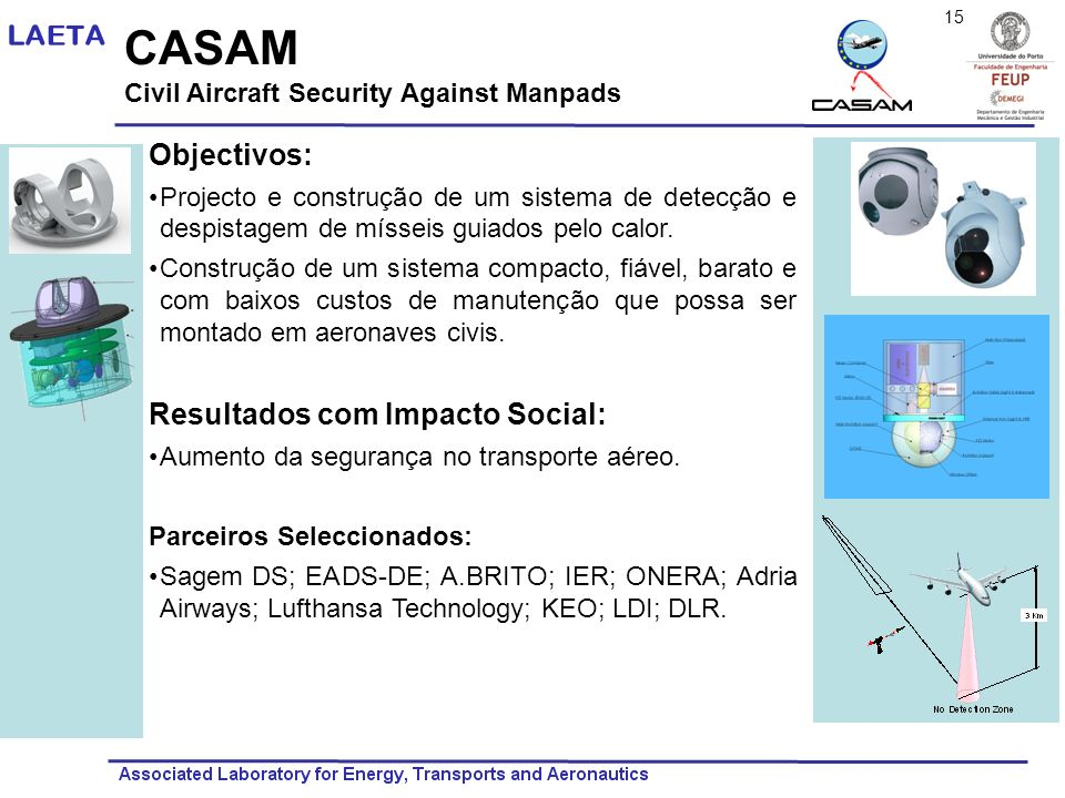 CASAM Objectivos: Resultados com Impacto Social: