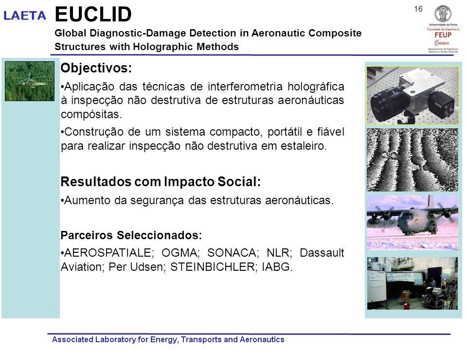 EUCLID Objectivos: Resultados com Impacto Social: