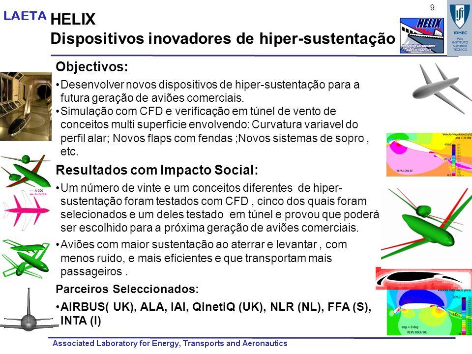 Dispositivos inovadores de hiper-sustentação