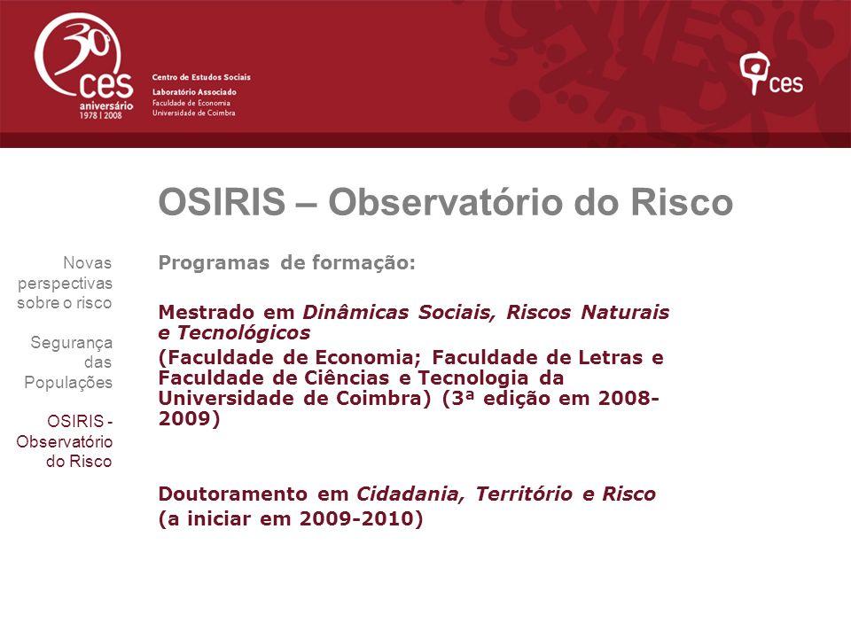 OSIRIS – Observatório do Risco