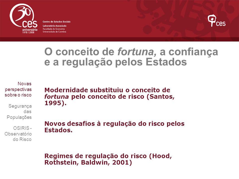O conceito de fortuna, a confiança e a regulação pelos Estados